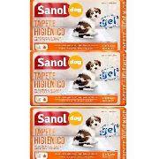 3 Pacotes Tapete Higienico Para Cachorro Sanol Dog - 80x60cm Ao todo 90 unidades