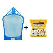 Combo para piscina: Estojo De Análise de Água 3 Em 1 Genco + Peneira Plástica Coador de limpeza de água