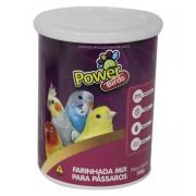 Alimento de passarinho papa farinhada mix para pássaros Power Birds 500g