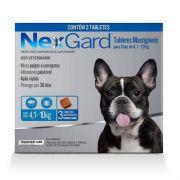 Anti Pulgas e Anti Carrapato NexGard Mata Pulgas e Carrapatos M 4,1 a 10 kg 3 Tabletes