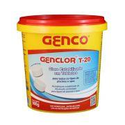 Baldinho com 45 Mini Tablete /  Pastilha Cloro Genclor Estabilizado Genco T-20 900g