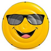 Bóia Ilha colchão Inflável Emoji Cara Legal para Piscina 57254 Intex (Boia Emoji das Blogueiras) 1,73m