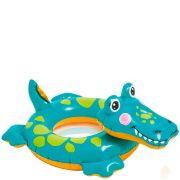 Boia infantil Inflável para praia piscina Cabeça Zoo Jacaré Intex 71cmX56cm 58221-1