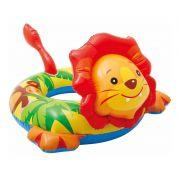 Boia infantil Inflável para praia piscina Cabeça Zoo Leão Intex 76cmX66cm 58221