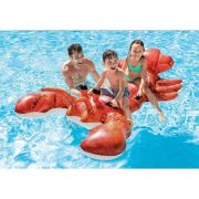 Boia Lagosta - Bote inflável para piscina Lagosta Gigante com 4 alças Intex 2,13m x 1,37m 57533