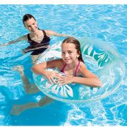 Boia redonda inflável para Piscina. Modelo Circular grande Flor 91cm Intex 59251 -A Azul