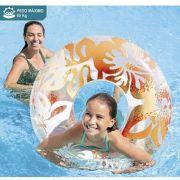 Boia redonda inflável para Piscina. Modelo Circular grande Flor 91cm Intex 59251 -L Laranja