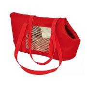 Bolsa De Transporte para Cães e gatos De Colo São Pet Modelo Marie 600 - N2 (40X21X25CM) Vermelha