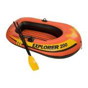 Bote Inflável Mar, piscina, lago, represa, rio Explorer 200 com remos e bomba Intex - 1,85m X 94cm X 41cm 58831