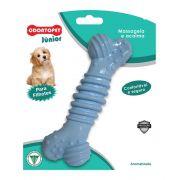 Brinquedo Mordedor para cachorro Osso super resistente Odontopet mastigação para cães filhotes Super Medio Azul