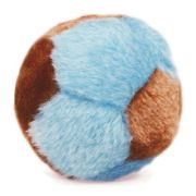 Brinquedo para cachorro Bolinha de Pelúcia (Bola de pelúcia sonora ao apertar) Chalesco Azul/Marrom