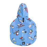 Capa de Chuva para cachorro: Capa protetora para chuva cães Zooz Pets Snoopy Tam G: 60cm x 55cm