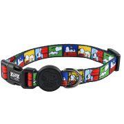 Coleira para cachorro Snoopy Quadrinhos coloridos Film Color tamanho G (Ajustável 40 - 65cm) Zooz Pets