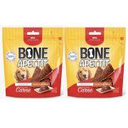 Combo 2 unidades Bifinho Flexível Petisco para Cachorros Carne Bone Apettit Cães 500g