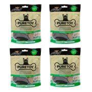 Combo 4 Pacotes Casco Bovino mastigáveis para cachorro Pestico 100% natural Casco de boi Petisco para cães Puretoy