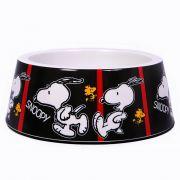 Comedouro Snoopy Quadrinhos Film Black para Cachorro ou Gato Snoopy Tirinha Black M 16cm x 6cm 450ml