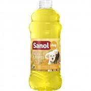 Desinfetante de Ambientes e Eliminador de Odores para Ambiente com Cachorros e Gatos Citronela Sanol 2 Litros