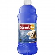 Desinfetante de Ambientes com Animais e Eliminador de Odores Fragrância Tradicional Sanol 2 Litros