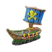 Enfeite para Aquário Barco Pirata 11cm x 12cm x 4cm VigoAr