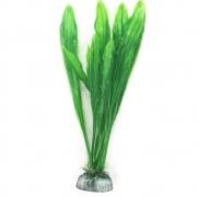 Enfeite para aquário planta artificial verde com base para ancoragem no fundo 20cm VigoAr