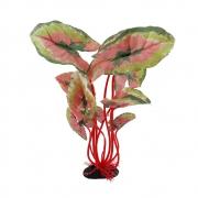 Enfeite para aquário planta vermelha de seda VigoAr