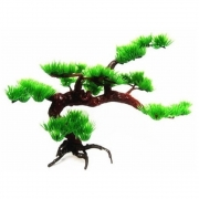 Enfeite para aquário tronco com planta artificial estilo Bonsai Medio 30cm VigoAr
