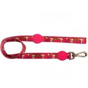 Guia para Cachorro Snoopy Pink Flower com mosquetão 1,20m G 315kg resistência Zooz Pets