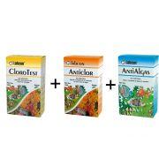 Kit Cloro Aquário: Teste de cloro + correção para água de aquário Cloro test: AntiClor + Anti Algas Labcon