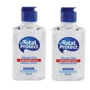 Kit com 2 Álcool em Gel 70° Total Protect 120ml cada Mata 99,9% das bactérias