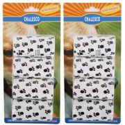 Kit com 2 Cartelas de Refil de Saquinhos Sacola Cata caca Chalesco - Sacolas Biodegradáveis pega fezes - Branco