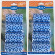 Kit com 2 Cartelas de Refil de Saquinhos Sacola Cata caca Chalesco - Sacolas Biodegradáveis pega fezes - Azul