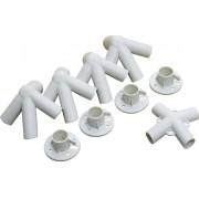 Kit de Conexões para Gazebo - Peças plásticas de Reposição para Tenda