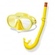 Kit Mergulho Máscara com Snorkel respirador AquaFlow Play Intex 55642