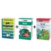 Kit PH Aquário: Teste de PH Tropical + correção de PH para água de aquário: Acid + Alcali Labcon
