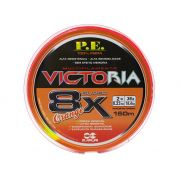 Linha Multifilamento Victoria Super 8x Orange 0,23mm 150m