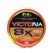 Linha Multifilamento Victoria Super 8x Orange 0,26mm 150m