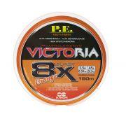 Linha Multifilamento Victoria Super 8x Orange 0,30mm 150m