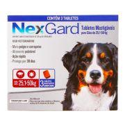 NexGard Mata Pulgas e Carrapatos GG 25,1 a 50kg com 3 Tabletes