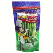 Ossinho Para Cães Deliciosso Palito Fino Menta 100g