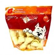 Bag Xisdog Ossinhos para cães todas as raças - 12 ossos duplo nó pacote 470g