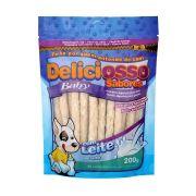 Osso palito Petisco para Cachorros Ossinho Para Filhotes Deliciosso Baby Leite - 200g