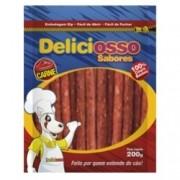Ossinho para cachorro Petisco Deliciosso Palito fino Carne - 200g