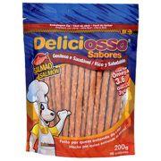 Petisco Palitinho Ossinho Para Cães Deliciosso Palito Fino Salmão 200g