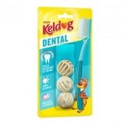 Osso para cães Kelco Keldog Dental Bolinha 60g - 3 un Ossinho para cachorro formato de bolinha