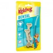 Ossinho para cães Dental Francês Kelco Keldog 40g - 2un Osso para cachorro controle de tártaro, hálito e higiene Bucal