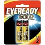 Pilha AA 1.5V Alcalina Eveready Gold 2 unidades