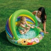 Piscina inflável Ursinho Pooh com proteção 45 litros Intex