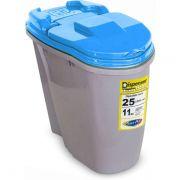 Compartimento Pote para ração - Porta Ração Dispenser Plast Pet 25L  - Azul