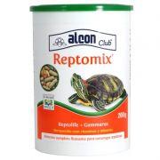 Ração de tartaruga: Alimento Para Tartarugas Aquáticas Reptomix 200g Alcon (Mix de Ração Reptolife + Gammarus)