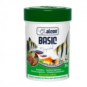 Ração flocos Para Peixes de aquário Alcon Basic alimento completo em flocos para peixe 20g